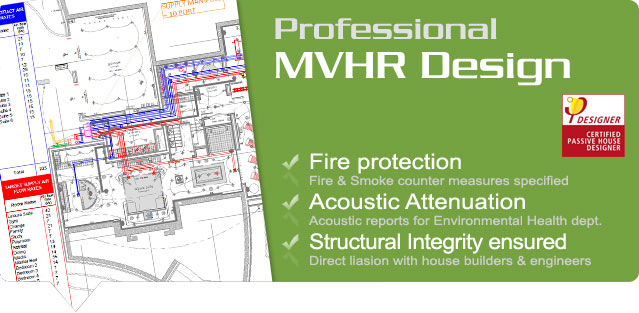 Solarcrest design, supply, install & commission MVHR systems by Airflow, Zehnder, Brink and Vent Axia