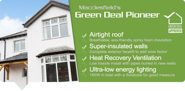 Working with Go Lo Macclesfield on a project funded by DECC via Cheshire East Counciol to provide an eco-showhome to promote the Green Deal.